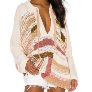 Free People Bayside Knit Pullover Romanc Combo NWT